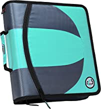 Case-it Dual 2-in-1 Zipper D-Ring Binder, 2 Sets of 1.5-Inch Rings with Pencil Pouch,..