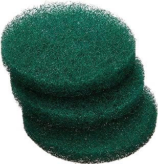 オーエ こびりつき落とし 丸型 グリーン 約7×7×1cm 強力研磨剤入り ガスレンジや 鍋底に 汚れをしっかり落とします 10個入