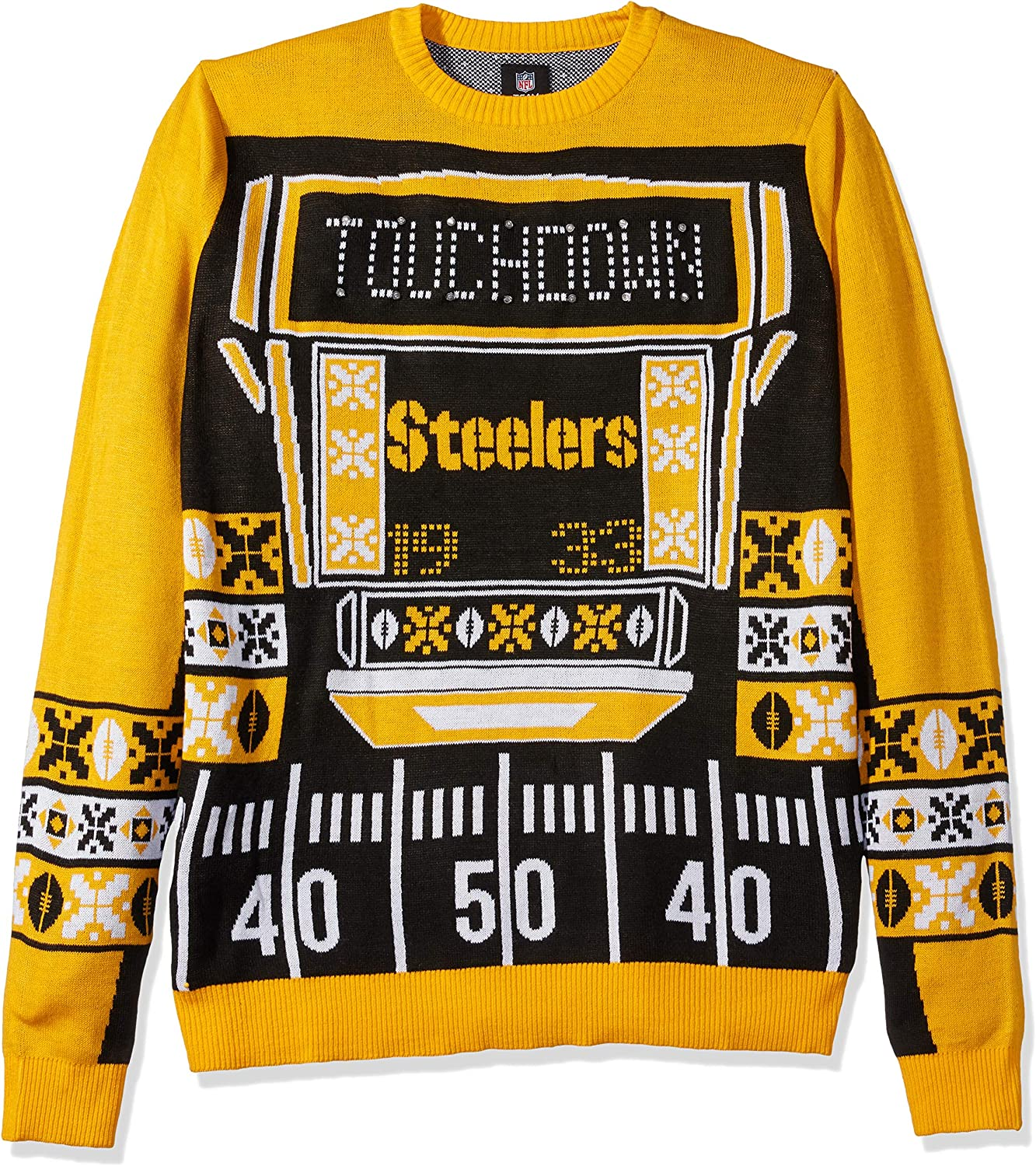 Selling rankings FOCO NFL Touchdown Industry No. 1 Light Sweater Ugly Up
