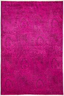 Solo Rugs Spiaggia Overdyed Vibrance One of a Kind Handmade Area Rug, 6' 1