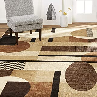 Home Dynamix Tribeca Jasmine Modern Area Rug, Abstract Brown/Beige 39