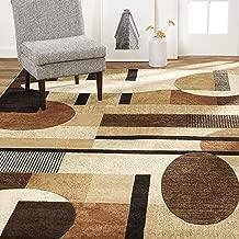 Home Dynamix Tribeca Jasmine Modern Area Rug, Abstract Brown/Beige 39
