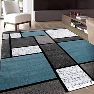 Contemporary Modern Boxes Area Rug 7' 10