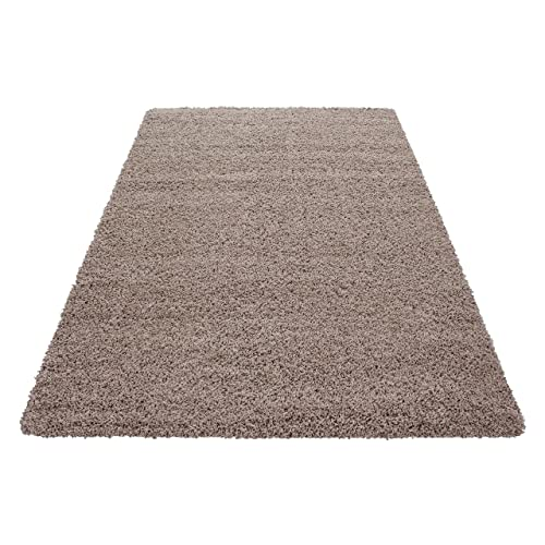 SMALL - EXTRA LARGE SIZE THICK MODERN PLAIN NON SHED SOFT SHAGGY RUGS CARPETS RECTANGLE &
