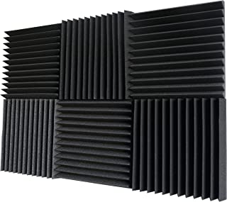 "Foamily 6 Pack- Acoustic Panels Studio Foam Wedges 2"" X 12"" X 12"""