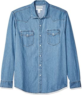 Men's Regular-fit Long-Sleeve Denim Shirt