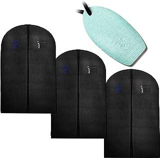 R&C 衣類 スーツカバー 3個セット 珪藻土ドライオーナメント付 防虫 防虫カバー スーツ カバー 衣類カバー ドレスカバー 収納 60cm×100cm