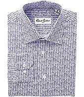 Gail - Squares Printed Dress Shirt