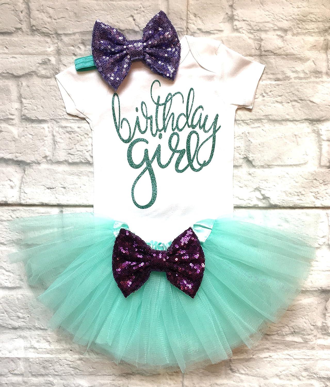 Selling 1st Birthday Outfit Birthda Girl Store Mermaid