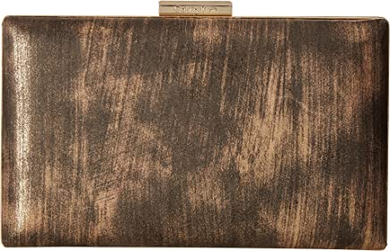 Calvin Klein Womens Brushed Metallic Evening Bag