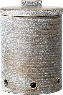 Bloomingville A82043207 Stoneware Jar, Large, Grey