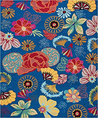 Amazon Com Safavieh Four Seasons Collection Frs470a Hand Hooked Floral Area Rug 8 X 10 Blue Red Furniture Decor