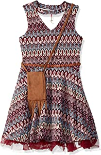 فستان بناتي كبير مطبوع عليه Beautees