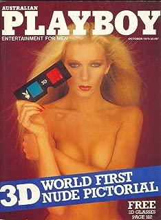 Australian PLAYBOY Adult Magazine, October 1979, 3-D Nudes Special