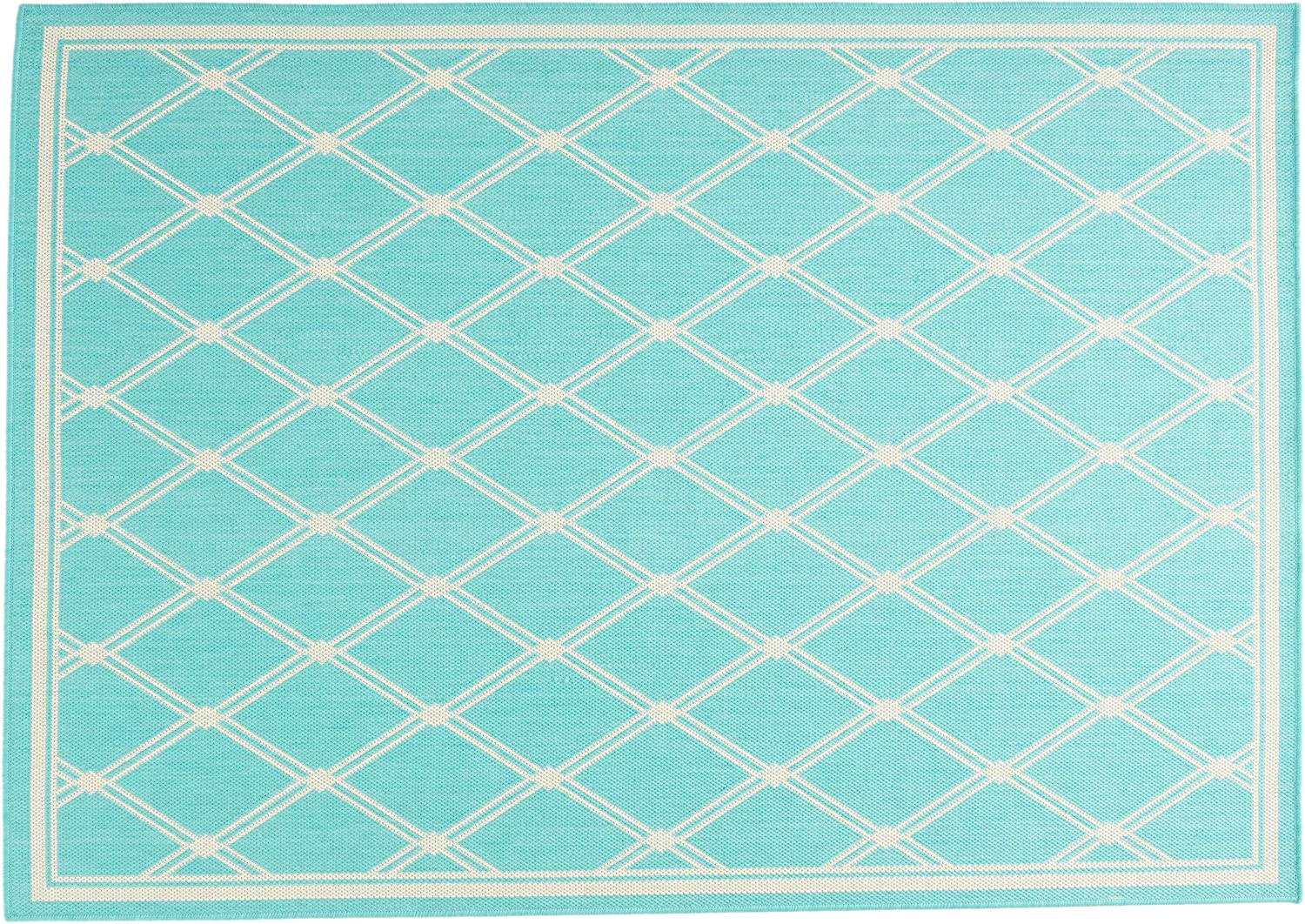 Christopher Knight Home 312288 Johnston Outdoor Rug Large-scale sale Finally popular brand Area Teal