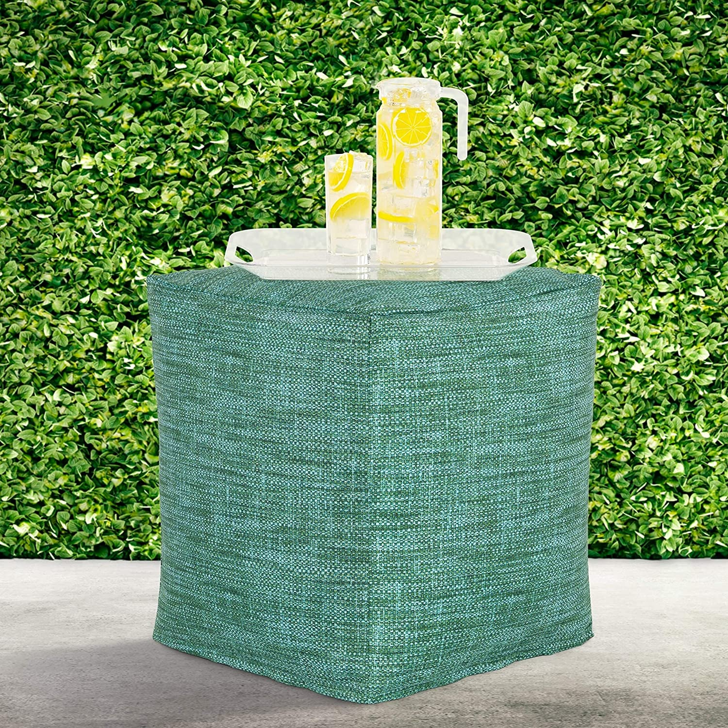 lowest price MISC Deep Sea Indoor-Outdoor Pouf Ranking TOP18 Green Tropical Geometric Polye