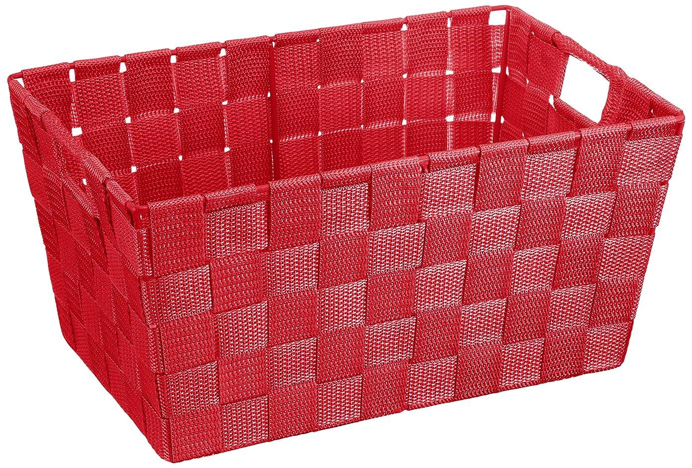 元気無条件関数Wenko アドリア ストレージバスケット レッド S 20384100