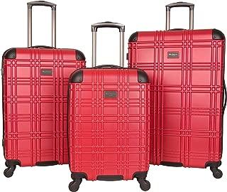 Ben Sherman Nottingham 3-Piece Lightweight Hardside 4-Wheel Spinner Travel Luggage Set: 20
