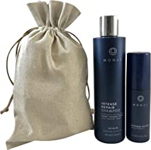 Monat Regrowth (Let it Grow) System - Intense Repair Shampoo and Intense Repair Hair Treatment Bundle with Free Linen Bag