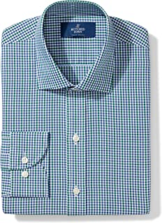 Amazon Brand - BUTTONED DOWN Men's Slim Fit Gingham Dress...