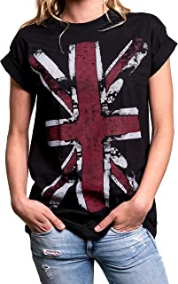 Union Jack T-Shirt - Oversized Top with UK Flag - Plus Size