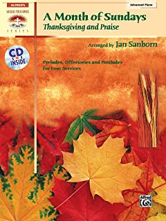 A Month of Sundays: Thanksgiving and Praise, Book & CD