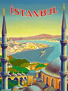 A SLICE IN TIME Istanbul Turkey Turkish Vintage Travel Advertisement Art Collectible Wall Decor Poster Print. Poster Measures 10 x 13.5 inches
