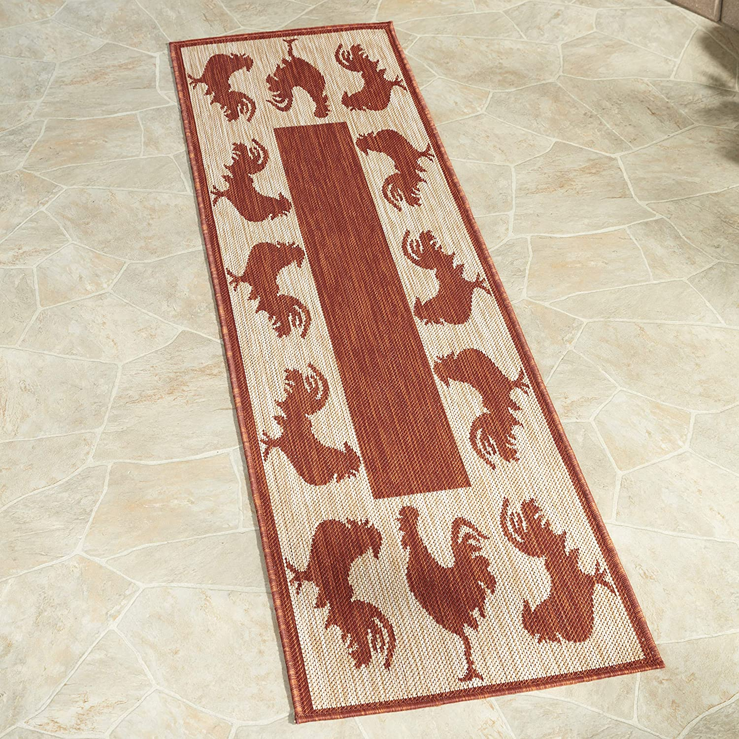 Max 87% OFF The Lakeside Collection Farmhouse Runner New Free Shipping with Throw Red Roos Rug