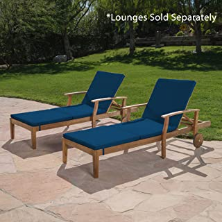 Christopher Knight Home 303998 Jessica Outdoor Chaise Lounge Cushion (Set of 2), Blue