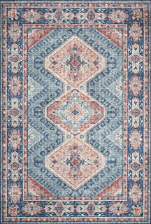 Loloi ll Skye Collection Printed Distressed Vintage Area Rug, 9'-0