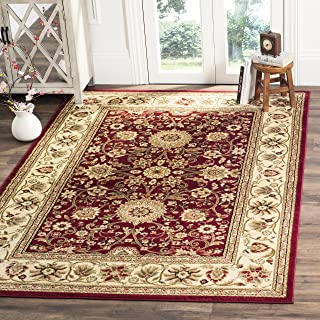 Safavieh Lyndhurst Collection LNH212F Traditional Oriental Red and Ivory Area Rug (4' x 6')