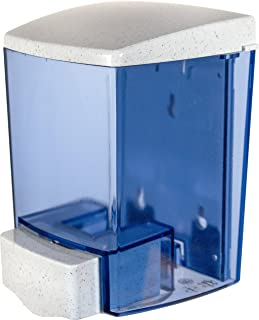 San Jamar S30TBL Classic Bulk Liquid/Lotion Soap & Hand Sanitizer Dispenser, 30 oz. Capacity, Arctic Blue