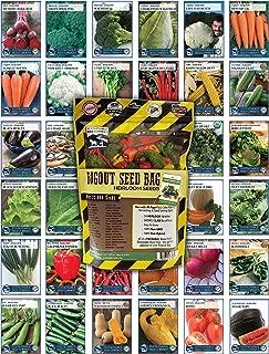 22,000 Non GMO Heirloom Vegetable Seeds, Survival Garden, Emergency Seed Vault, 34 VAR, Bug Out Bag
