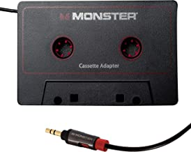 Monster Aux Cord Cassette Adapter 800 – iCarPlay for Car Tape Deck, Auxiliary To..