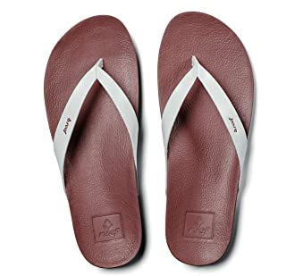 Reef Women`s Sandals Cushion Bounce Court   Vegan Leather Flip Flops Straps