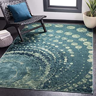 Safavieh Constellation Vintage Collection CNV749-2224 Turquoise and Multi Viscose Area Rug (3'3