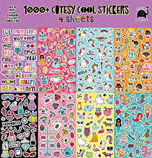 Josephine on Caffeine Variety Sticker Assortment (1000+ Stickers). Cute Girl Stickers, Teachers Stickers for Classroom and Planning Stickers. Trendy, Cool, Fun!