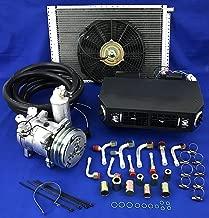 coldmaterinc A/C KIT Universal Under Dash Evaporator Compressor KIT AIR Conditioner 432-1 12V (2A v‑ Belt)