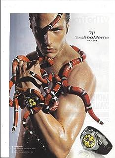 PRINT AD For TechnoMarine Watches Diva Dimitri Snake Scene
