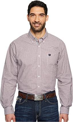 Long Sleeve Oxford Weave Plaid