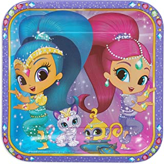 American Greetings Shimmer & Shine Paper Dinner Plate, 8- Count