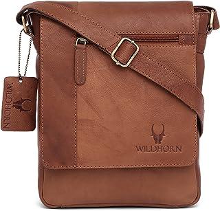 WildHorn Leather 21.59 cms Brown Messenger Bag (MB205/1 Vintage)