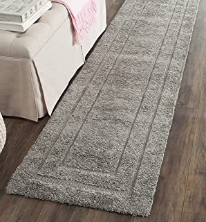 Safavieh Shadow Box Shag Collection SG454-8080 Runner Area Rug, 2-Feet 3-Inch by 7-Feet, Grey and Grey