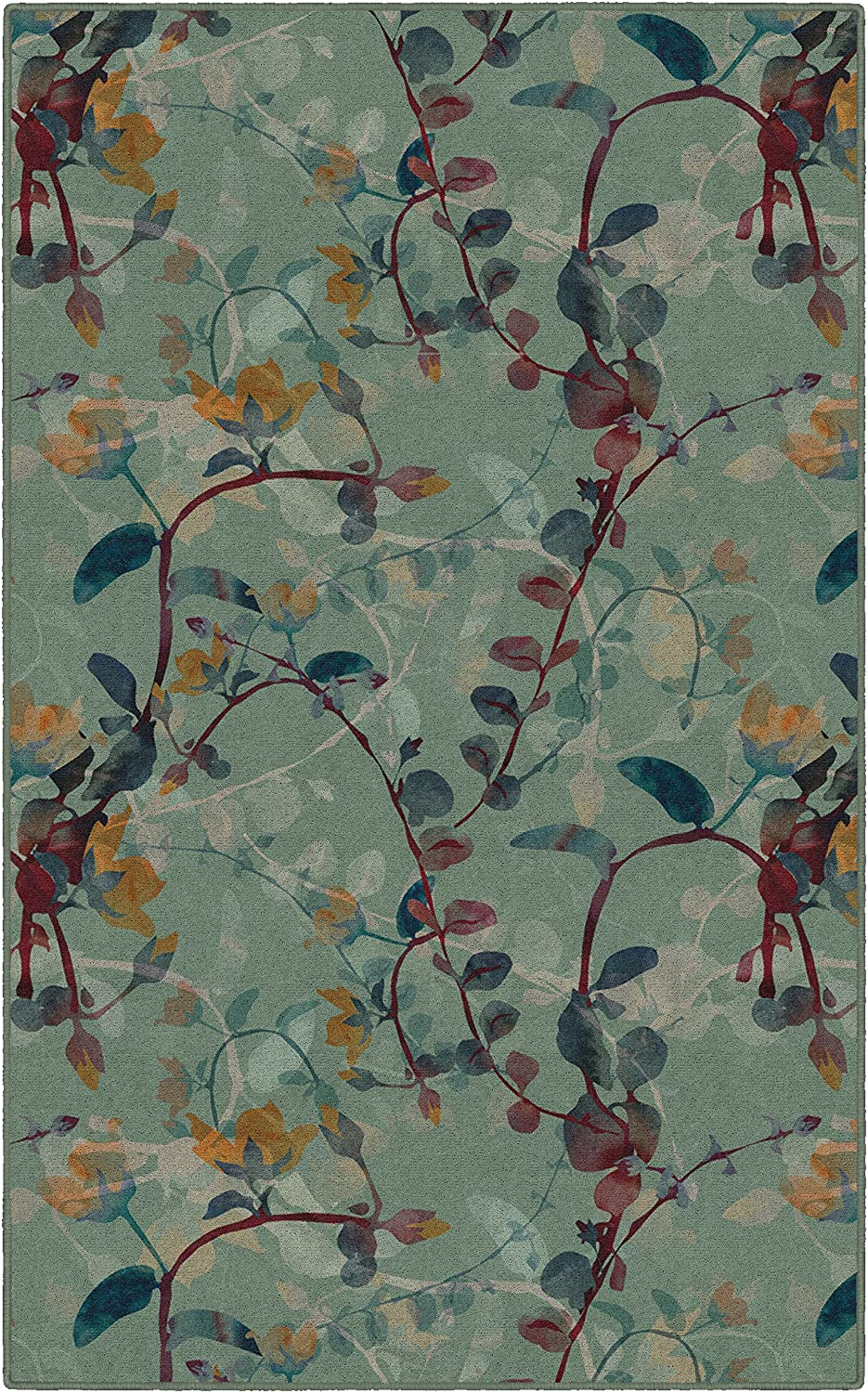 lowest price Brumlow Mills Catalina Fall Green Floral Area Decor Rug Home for Super sale period limited