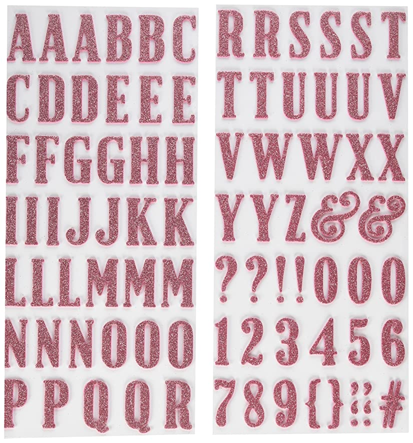 American Crafts 346629 Thickers Stickers, Pink