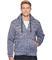 U.S. POLO ASSN. - Heathered Fleece Zip Hoodie