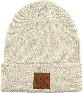 Funky Junque Mens Beanie Slouchy Ribbed Knit Skull Cap Soft Warm Winter Hat 0775788585a