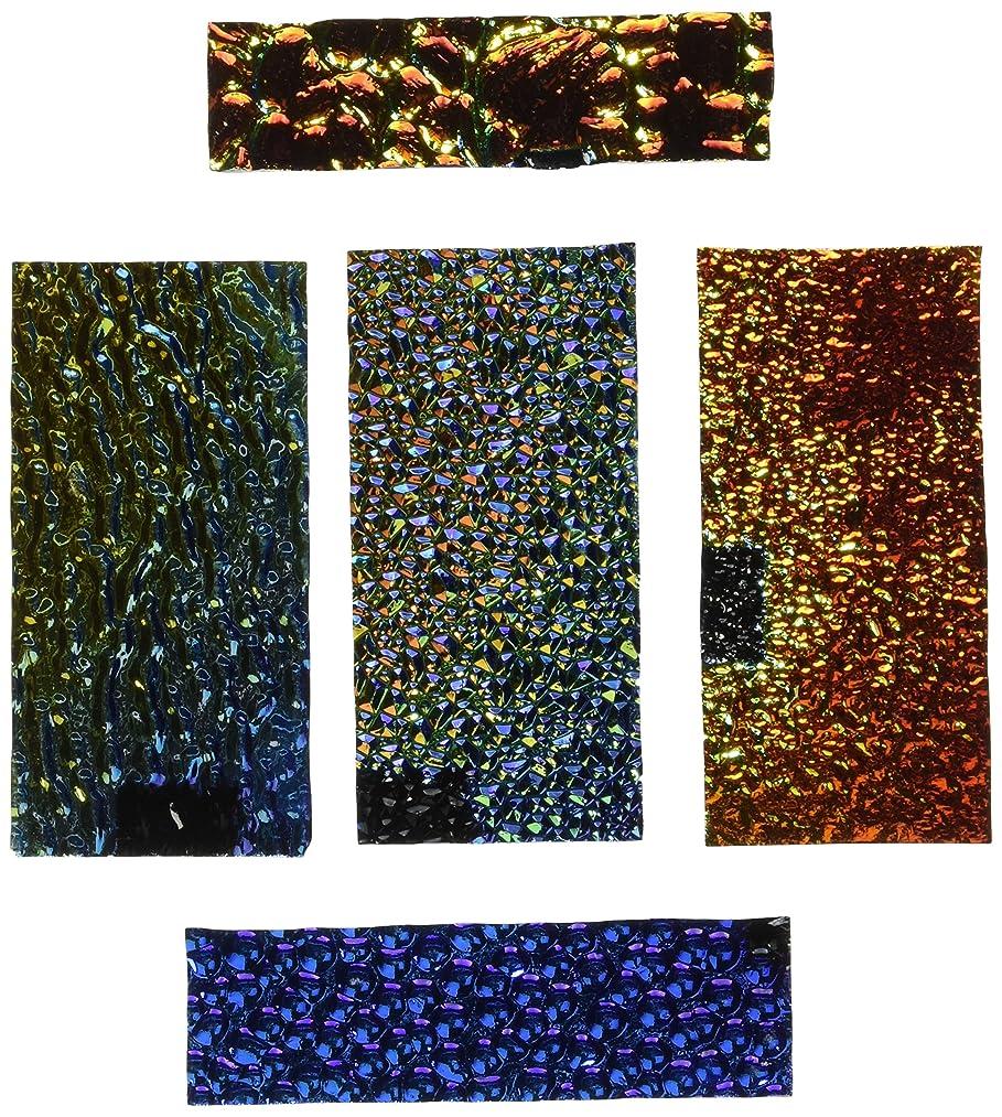 DichroMagic Dichroic Wissmach Texture Scrap on Black - 90 Coe, 1/4 lb