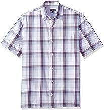 Van Heusen Men's Air Short Sleeve Button Down Check Shirt