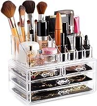پاک کننده لوازم آرایشی و بهداشتی سازماندهنده - به راحتی لوازم آرایشی، جواهرات و لوازم آرایشی خود را سازماندهی کنید. به نظر می رسد زیبا بر روی حیله و تزویر شما، شمارنده حمام و یا لباس. طراحی روشن برای دید آسان.